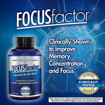 Focus Factor supplement to improve memory, concentration and focus