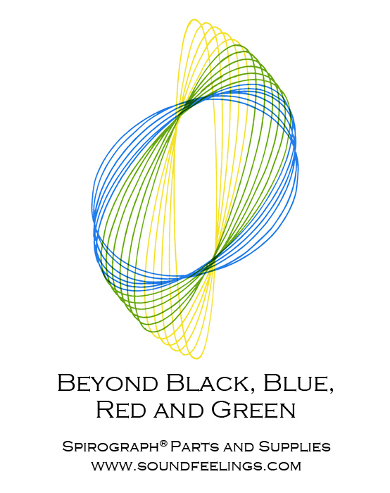 Beyond Black, Blue, Red and Green. From the new 10-color instruction booklet: Drawing with the Spirograph® Multicolor Pen. #spirograph #10colorpens http://www.soundfeelings.com/products/spirograph_pen_refills/multicolor_booklet.htm