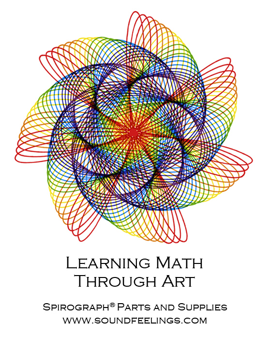 Learning Math Through Art. From the new 10-color instruction booklet: Drawing with the Spirograph® Multicolor Pen. #spirograph #10colorpens http://www.soundfeelings.com/products/spirograph_pen_refills/multicolor_booklet.htm